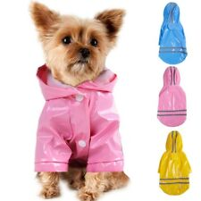 Pet Dog Puppy Raincoat Hooded Reflective Rain Coat Jacket Raincover Waterproof