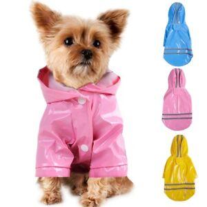 Pet Reflective Rain Dog Puppy Raincoat Hooded Coat Waterproof Jacket Raincover