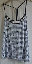 New M&S  wms top in Blue/white size 18