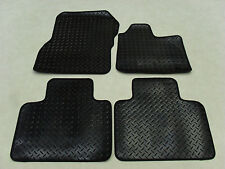 Renault Zoe 2012-on Fully Tailored Deluxe RUBBER Car Mats in Black