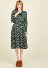 Long Sleeve Dresses A-Line with Buttons