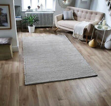 Ashton Rugs in Pale Grey Woven Design Modern Handmade Wool Rugs 120X180CM