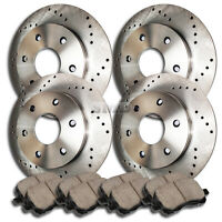 A0055 FIT 2002 2003 2004 Trailblazer 5 Passenger Brake Rotors Ceramic Pads F+R