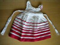 vestito bambina bambina neonato mayoral chic bianco rosso mesi 6 cm 68 ottimo