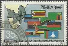 Timbre Drapeaux Zimbabwe 117 o (30309)