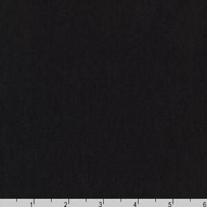 By Yard- Arietta Ponte De Roma Solid Knit Robert Kaufman A165-1019 BLACK