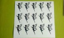 "fabulous fairies fairy set of 15 x 3"" x 2"" Vinyl decal sticker wine glass DIY"