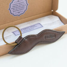Captain Fawcett's Leather Moustache Keyring (CF.91)