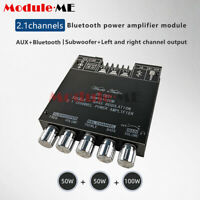 Digital Bluetooth 5.0 TPA3116D Amplifiers Board 2.1 Channel Audio 2*50W+100W AUX