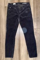 GAP 1969 Women's Black Always Skinny Cotton Blend Corduroy Pants-Size 28