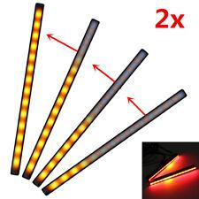 15cm Auto Sequentiell Laufeffekt Blinker Lampe + Bremsleuchte Gelb/Rot 12V 2tlg