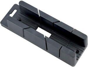 Draper Mini Mitre Box 200mm 50mm 35mm Wood Scribe Block 45° 90° edge precision