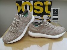 ADIDAS PURE BOOST  MENS LIGHT BROWN COURSE RUNNING TRAINERS SIZE UK 8.5 EU 42.5