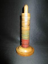 ancien jeux jouet anneau sur socle en buis tourné XIX ème