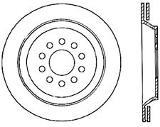 Disc Brake Rotor-Sport Cryo Drilled Disc Rear Left Stoptech fits 2004 Audi S4