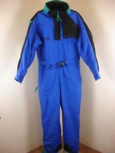 Men's sz L Columbia One Piece Snow Ski Snowboard Snowmobile Suit Blue Insulated