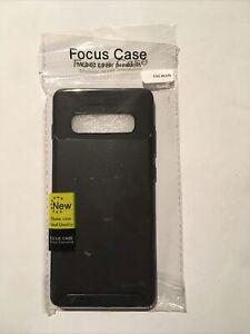 Carbon Fibre Texture Back Case For Samsung Galaxy S10 Plus Black Cover UK Seller