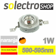 Diodo LED 1W NARANJA SMD  POWER LED YELLOW P0045