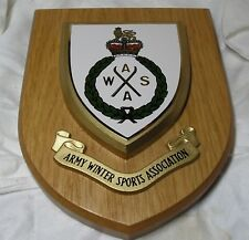 Vintage wooden shield - Army Winter Sports Association hand painted plaque