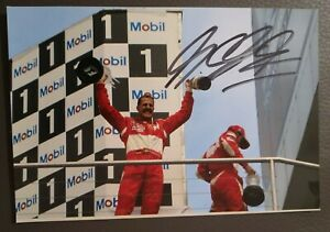 Michael Schumacher original Autogramm auf Foto ,autograph,Formel 1,Ferrari