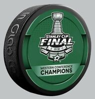2020 DALLAS STARS WESTERN CONFERENCE FINAL CHAMPIONS HOCKEY PUCK NHL STANLEY CUP
