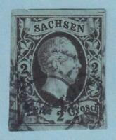 GERMAN STATES - SAXONY 6  USED - NO FAULTS EXTRA FINE!