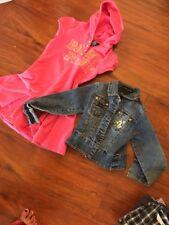 Baby Phat Girls Denim Gold Jacket Size M Pink Hoodie Sweater Dress Lot M