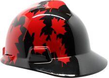 MSA V-Guard Hard Hat with Canadian Flag in Black
