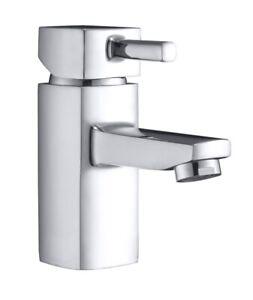 Square Bathroom Taps, Basin Tap inc Waste, Bath Filler Taps & Bath Shower Mixer