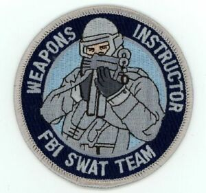 FBI WEAPONS INSTRUCTOR SWAT TEAM NEW PATCH SHERIFF POLICE
