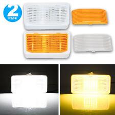 2 Pack Rv Led Porch Light Rectangle Clear Amber Lens Camper Rv Trailer Exterior