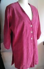 Terrific pink Woman's suede Leather Coat jacket  Size:3XL  Apart