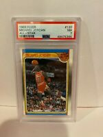 Michael Jordan PSA 7 NM 1988 Fleer All Star ICONIC DUNK Chicago Bulls #120