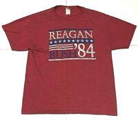 Rare Vintage Reagan/Bush 1984 presidential election red Large Collectible shirt