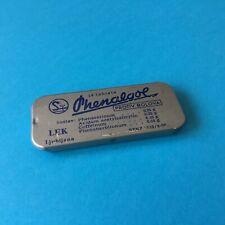 Vintage 70's Medicine PHENALGOL Analgesic Tablets Small Empty Tin Ex Yugoslavia