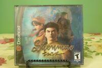 Shenmue (Dreamcast 2000) 4 Discs & Box Artwork - No Insert - Near Mint Condition