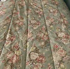 """Lovely Vintage Ralph Lauren """"Charlotte"""" Sage Green Floral Twin Comforter"""