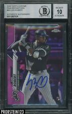 2020 Topps Chrome Pink Refractor #60 Luis Robert RC BGS BAS 10 AUTO White Sox