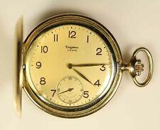 Dugena Festa Gold Plated Pocket Watch - Running - Free Shipping USA