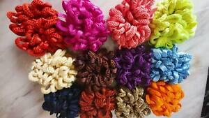 Small Volumiser Scrunchie Elastic Hair Tie Bun Hijab Volumizing Multi Colours #1