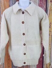 Inis Meain Women's Ireland Wool Cardigan Sweater lagenlook Sz 42 L-XL