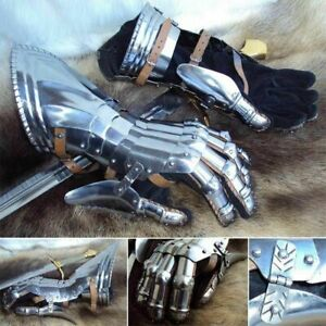 18 Gauge Medieval Articulated Steel Gauntlets Knight Gloves