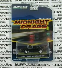 Greenlight 2019 LBE Exclusive Midnight Drags Black 1989 FORD MUSTANG LX 5.0
