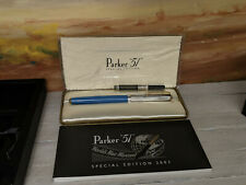 PARKER 51 Empire State Silver & Blue Special Edition Fountain Pen, READ!!