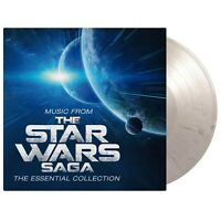 Music From The Star Wars Saga The Essential Collection White & Black Marbled LP