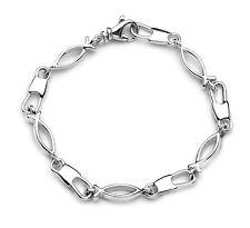 """Large Link Ichthus Fisher of Men Bracelet, 8.25"""""""