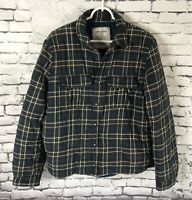 Zadig & Voltaire BREST Shirt Jacket  Check Plaid Snap Up Mens Size Large