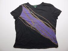 Women's LAUREN Ralph Lauren Short Sleeve Shirt Size 2X Equestrian Horse rider