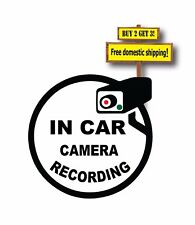 Camera Security System Recording in this Vehicle Decal/Sticker 3.25x3.25""