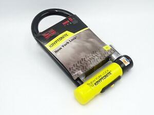 Kryptonite New York Standard - 3 keys - Sold Secure Gold 9/10 -Flexframe Bracket